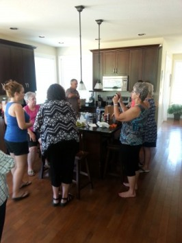 Stories, good food, and a drink, with family at Wrights home in Nanaimo, BC - Reunion 2015